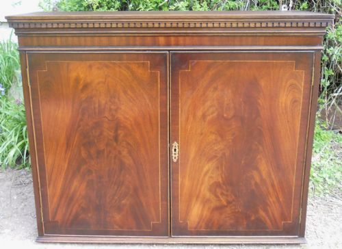 Inlaid Mahogany Hanging Cupboard